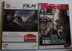 All Film Magazine (indonesisch mit englischen Überschriften, originalverpackt) und Cinema (deutschsprachig, ungelesen)
